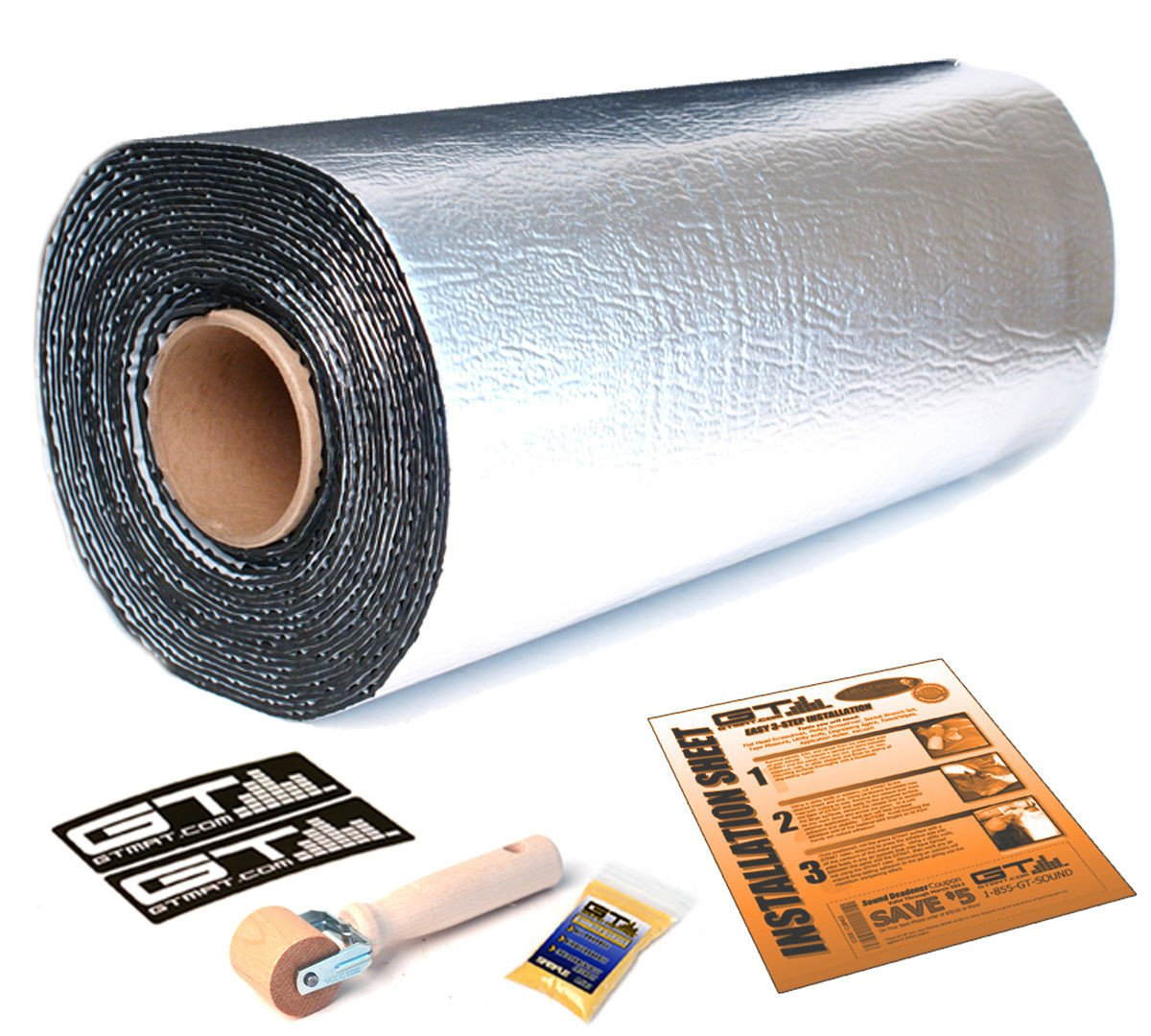 40sqft GTMat Ultra 80mil All Vehicle Auto Car Audio & Heat Shield Insulation Deadener