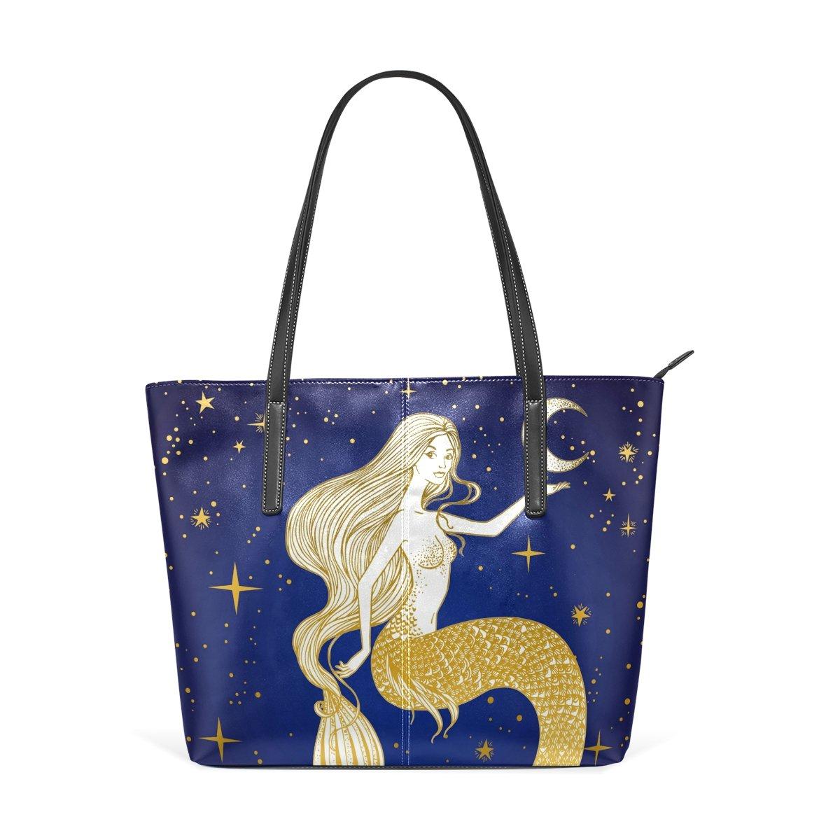 0f41bf472b Sacs COOSUN Belle sirène avec la Lune dans Son Sac bandoulière en Cuir PU  Main et ...