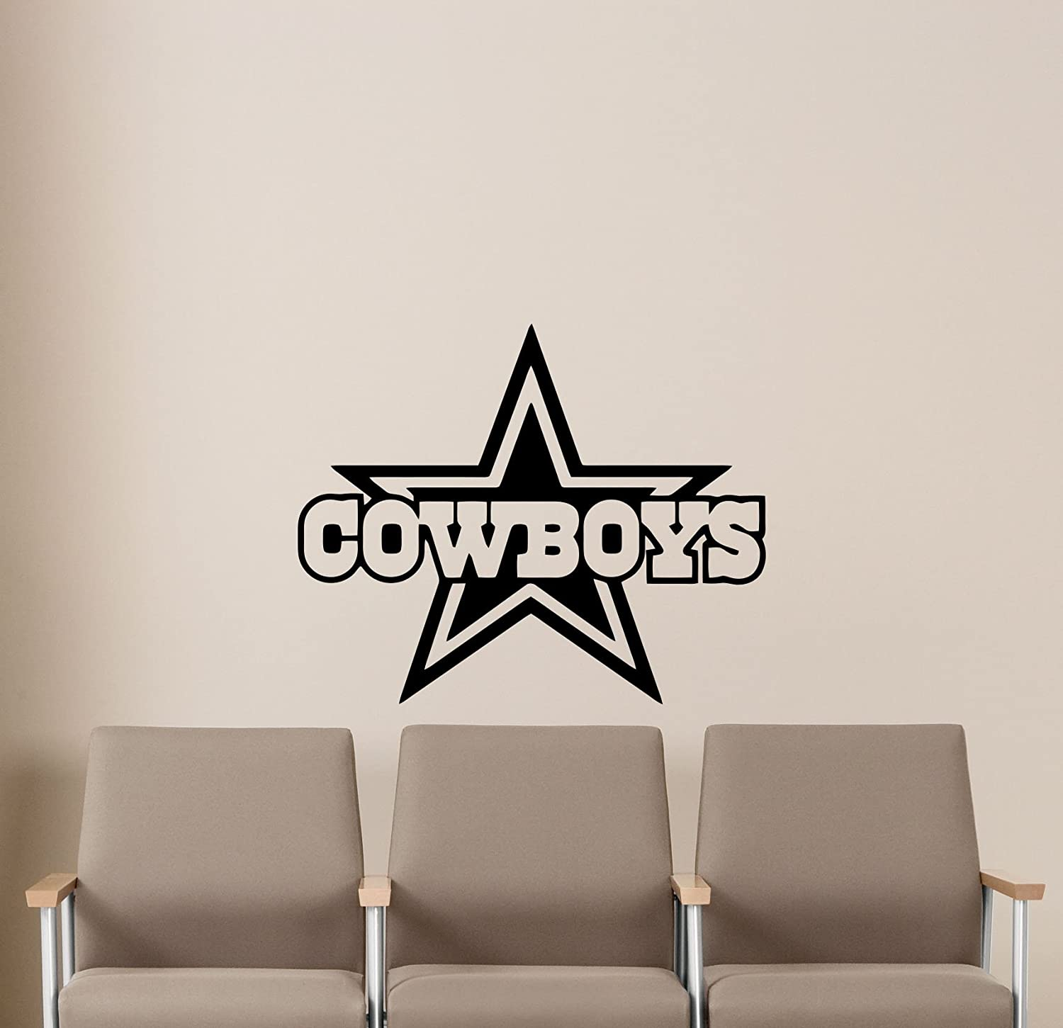 Ncaa dallas cowboys wall decals sports football club emblem kids children poster stencil decor sports vinyl sticker home art design removable mural 489n