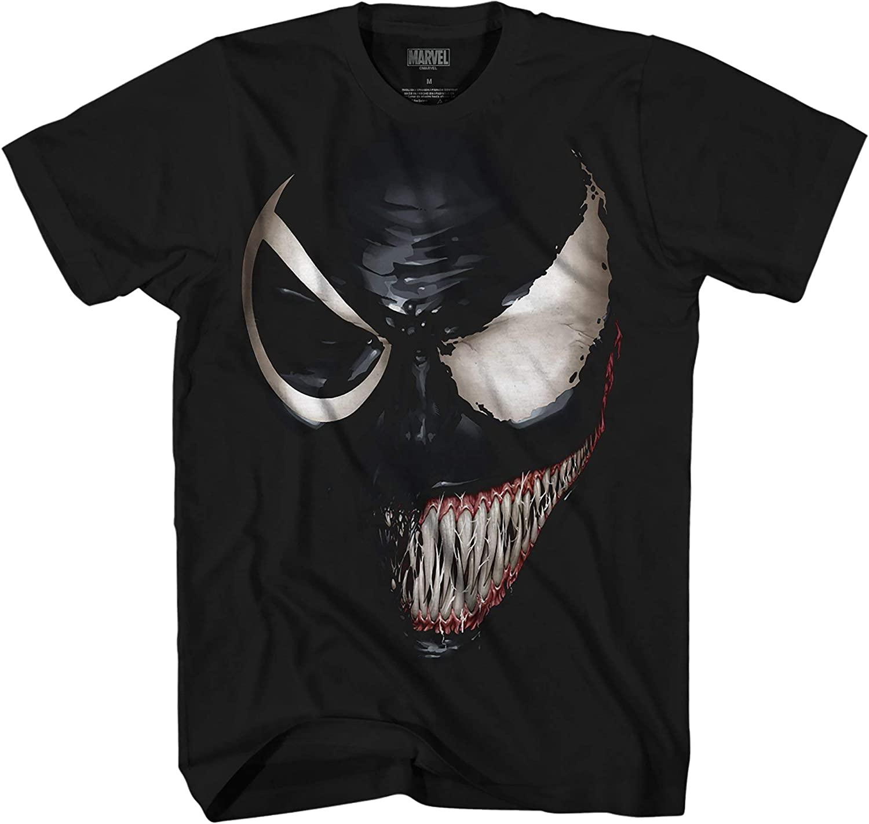 Amazon Com Marvel Venom Spider Man Spiderman Avengers Villain Comic Book Adult Mens Graphic T Shirt Apparel X Large Clothing
