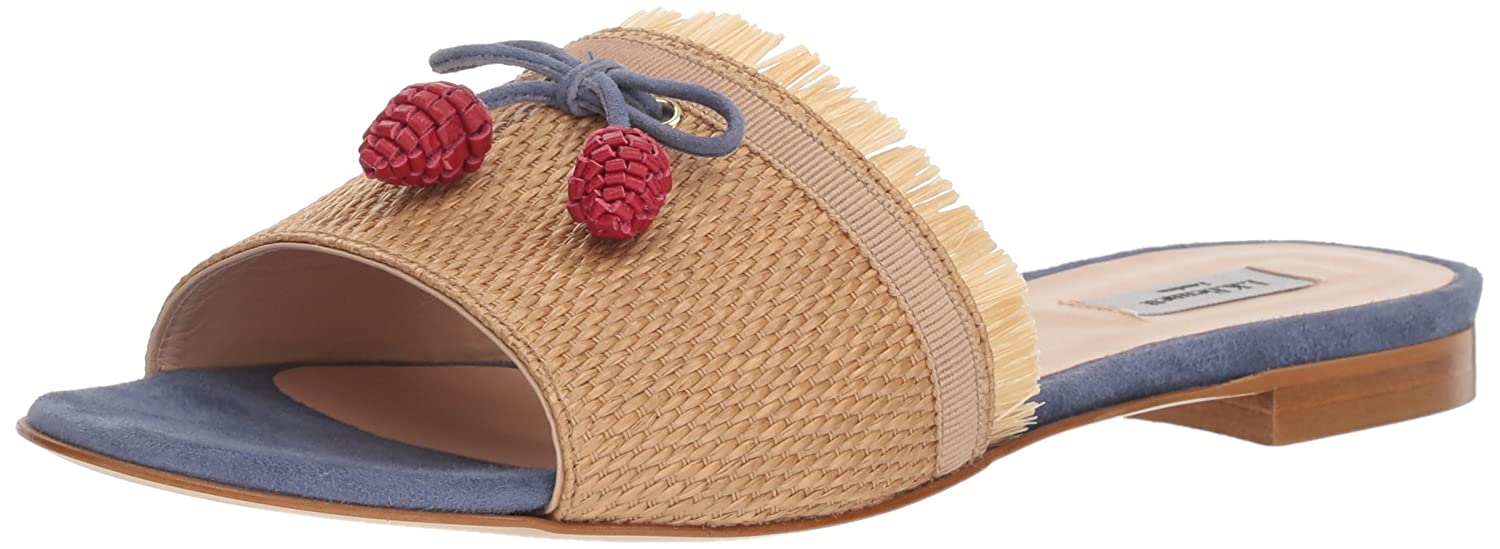 L.K. Bennett Women's Orla Slide Sandal B074JRBTCH 38 Medium UK (7.5 US)|Mul-natural/Blue
