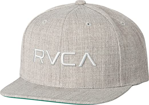 free shipping 897bd b6051 ... switzerland rvca twill snapback iii hat grey heather snap back cap  576db f72f1