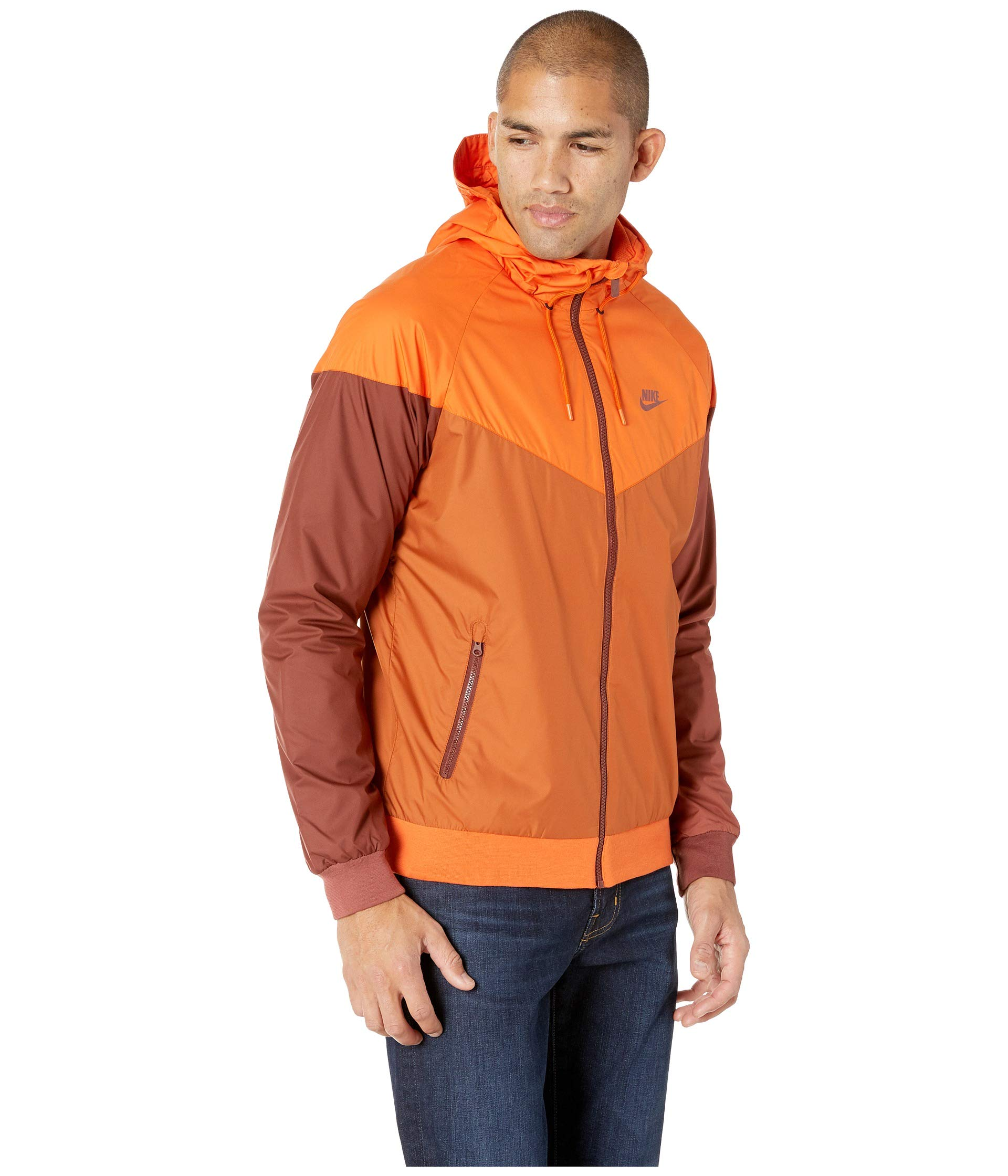 Nike Men's Windrunner Full Zip Jacket (Cmpfre Ornge/Dk Russet/Small) by Nike (Image #5)