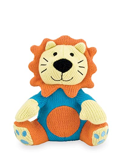 Amazon Rich Frog Sitting Knit Lion Knit Doll For Baby Hand