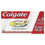 Colgate Pasta Dental Total 12 Clean Mint, 100 ml, Paquete de 2 Piezas