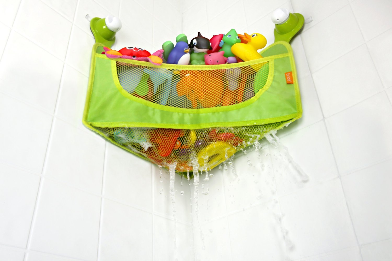 Amazon.com : BRICA Corner Bath Basket Toy Organizer + Sassy Bathtime Pals Squirt and Float Toys : Baby
