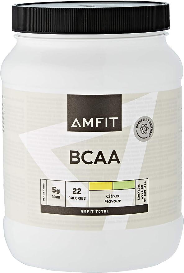 Marca Amazon - Amfit Nutrition BCAA, Sabor a Cítricos, 500g