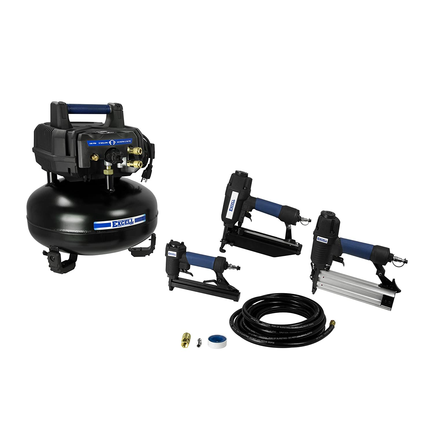 Excell U256PPCKE Compressor and 3-Nailer Combo Kit EXCELL Air Compressors