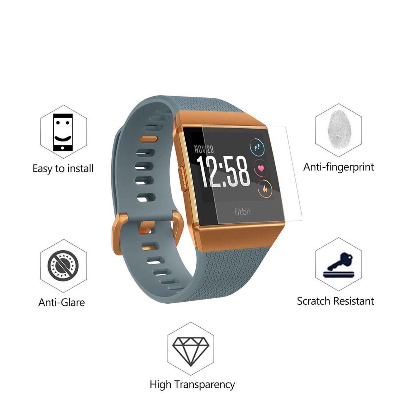 Protector de pantalla Fitbit Ionic, Yafine Protector de pantalla HD Ultra Clear Film para Fitbit Ionic Fitness Tracker: Amazon.es: Deportes y aire libre