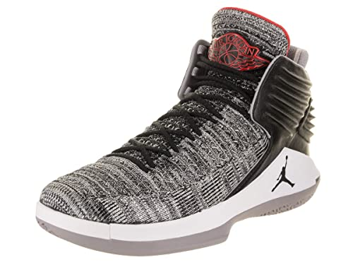 ddb2eec1c45a NIKE Mens Jordan xxxii 32 MVP Black Cement Basketball Shoes  Amazon ...