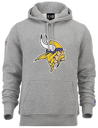 meet d7f05 e90e9 New Era - NFL Minnesota Vikings Team Logo Hoodie Farbe Grau ...