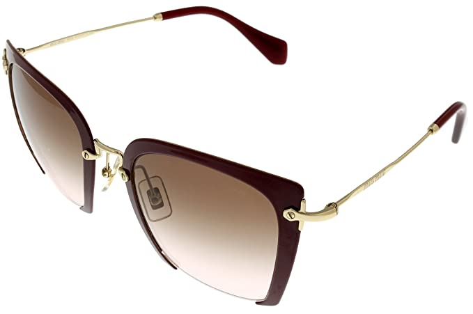 2e5c8a6ddc Image Unavailable. Image not available for. Colour  Miu Miu Sunglasses  Women Red Square MU 52RS UA50A6