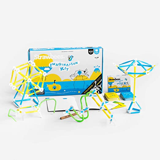 Strawbees Starter Kit STEM Building Set for Learning at Home 230 Pieces and Booklet with 11 Activities