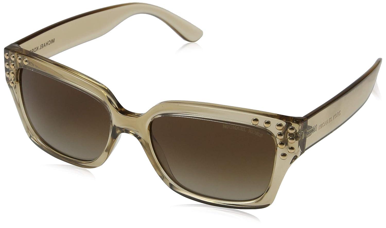 9cc39c939fe Michael Kors MK2066 334313 Light Brown Crystal Rectangle Sunglasses for  Womens at Amazon Men s Clothing store