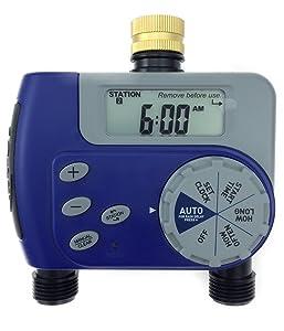 Orbit Dual Valve Digital Watering Hose Timer - Water Faucet Hose Bib Timer