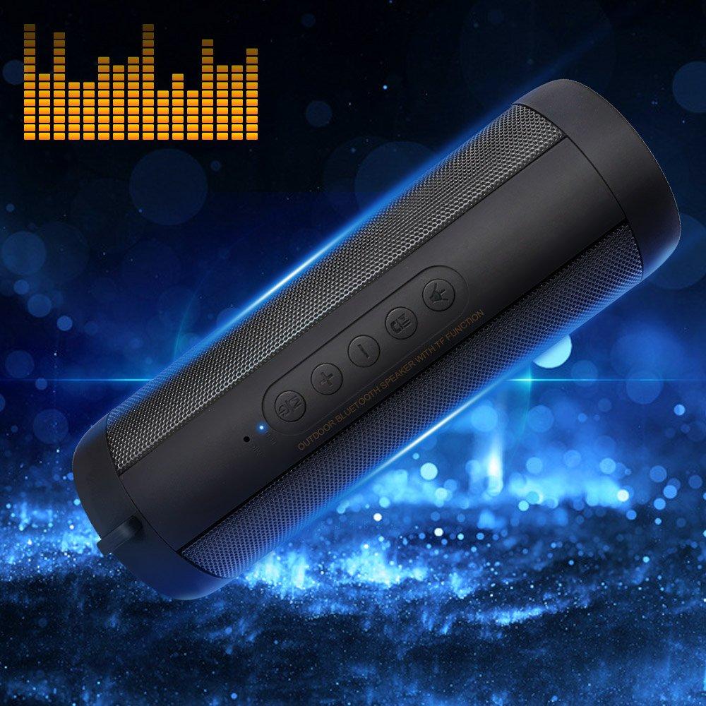 Korjo Portable Bluetooth Speaker 10W with Flashlight, FM Radio, Hands-Free, TF Card, 3.5 AUX Wireless Speakers Waterproof for Indoor Outdoor (Portable Bluetooth Speaker New)