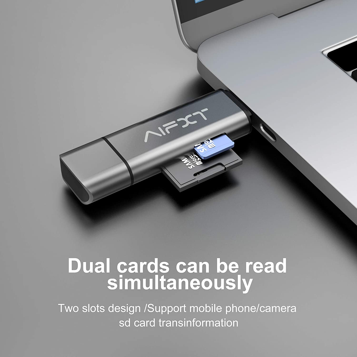 Alician USB 3.0 Card Reader High Speed Read//Write for Micro SD Card White