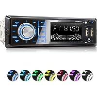 XOMAX XM-R268 Autoradio mit Bluetooth Freisprecheinrichtung I Handy Aufladen über 2. USB Anschluss I RDS Radio Tuner, FM I 7 Beleuchtungsfarben I 2X USB, SD, AUX I 1 DIN