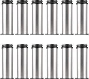 HOZEON 12 Pack Stainless Steel Adjustable Furniture Legs 2 Inches, Adjustable Cabinet Legs, Adjustable Feet for Furniture, Kitchen, Desk, Table, Sofa, Cabinet, Bed