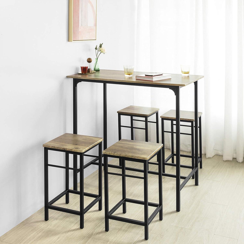 Bistrotisch Mit 4 Stühlen.Sobuy Bartisch Set 5 Teilig Stehtisch Bistrotisch Mit 4 Stühlen Ogt11 N