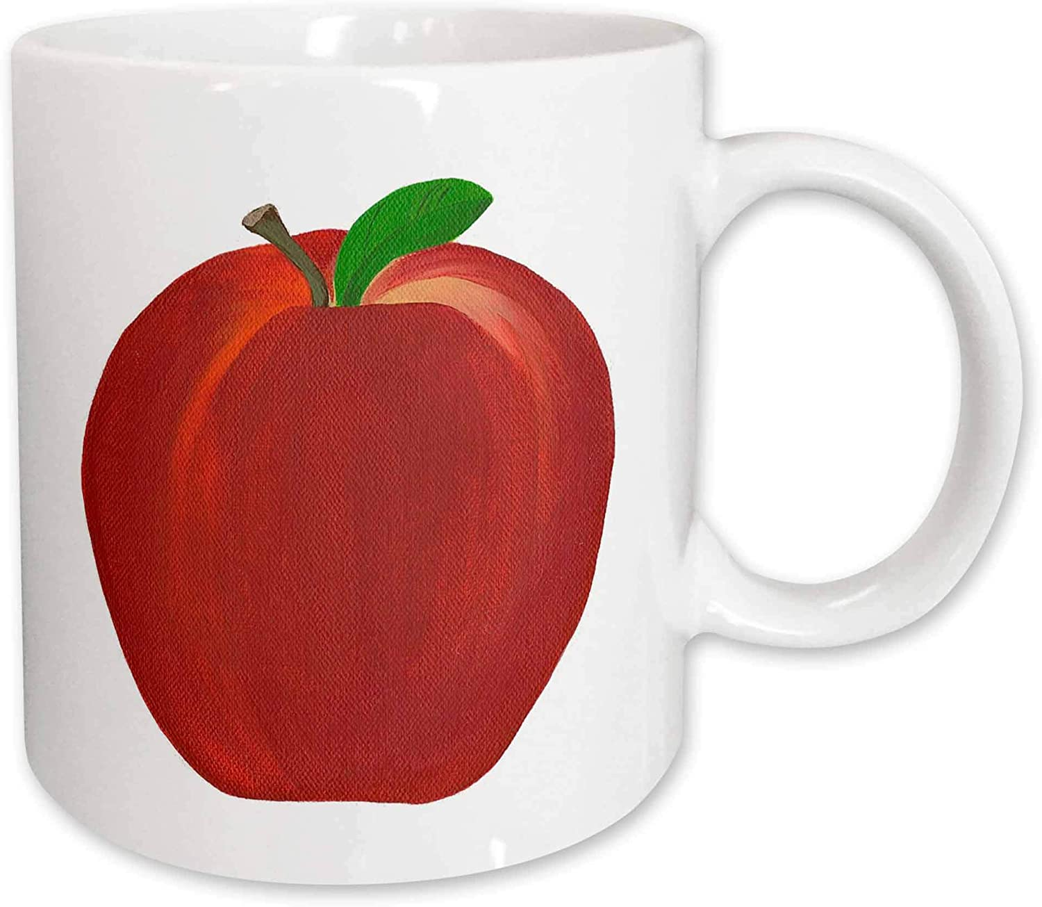 3dRose Red Apple Mug, 11-Ounce