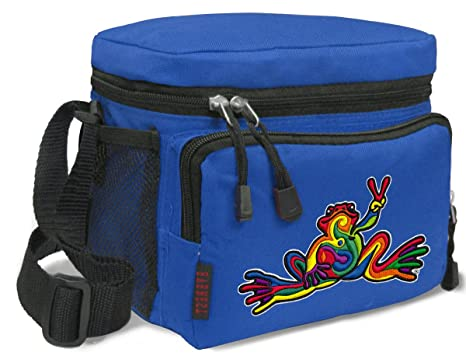 932b11a643ed Peace Frog Lunch Bags Peace Frogs Lunch Tote Coolers