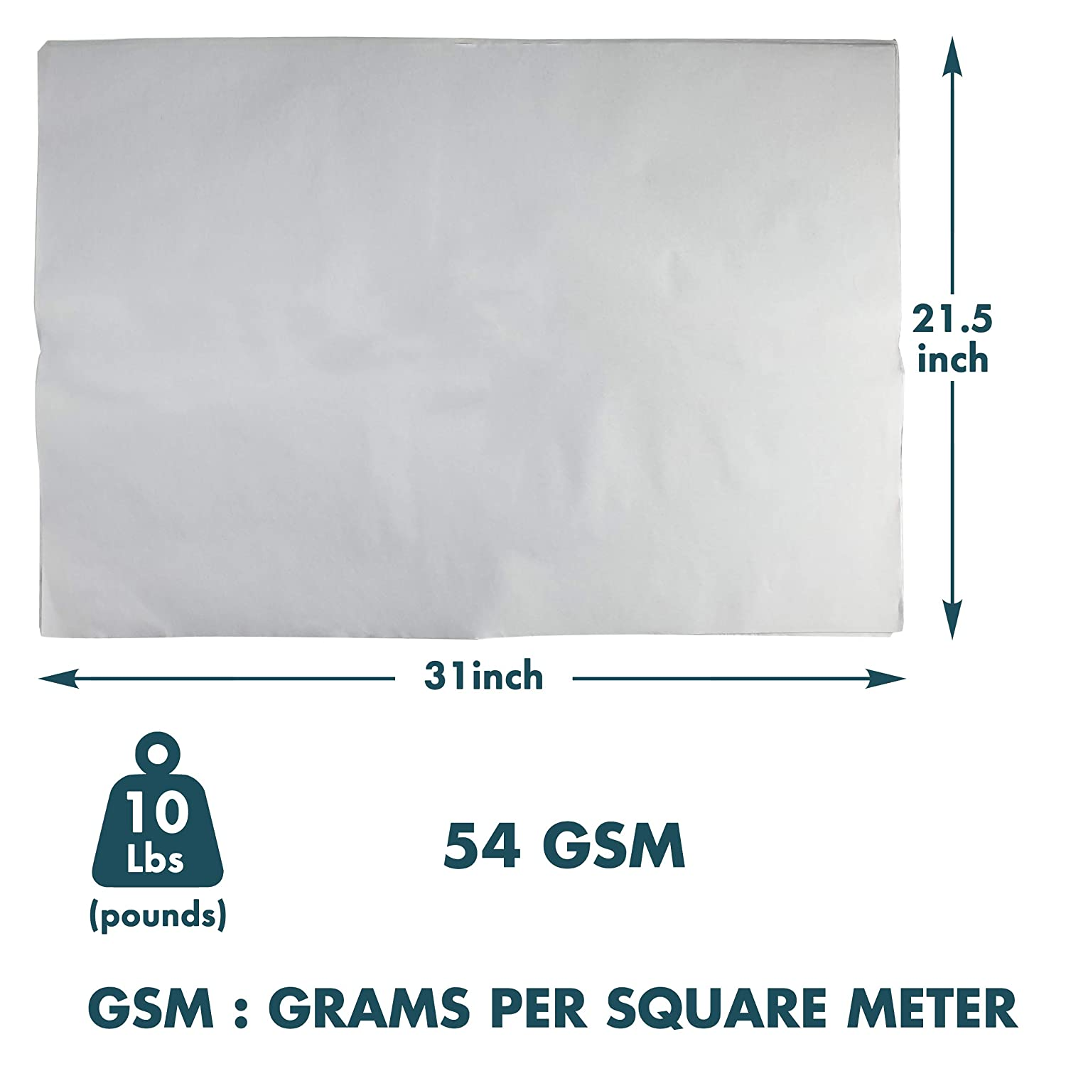 Packing Paper Sheets Moving Supplies Newsprint Paper 31 x 21.5 inch 54 GSM 10 lbs of Unprinted