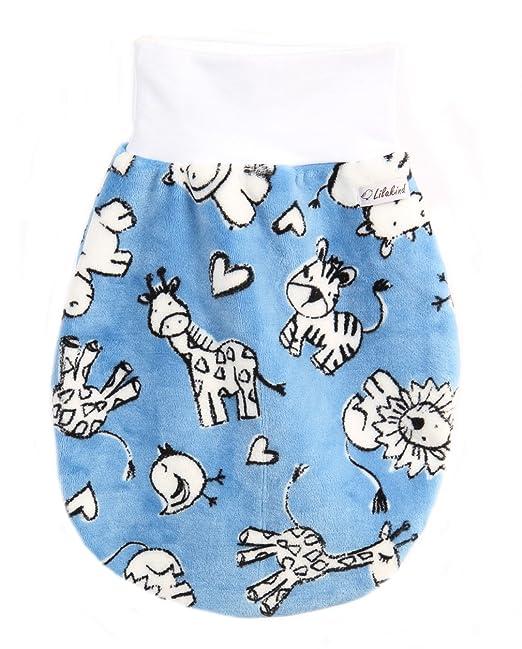 Lilakind - Saco de dormir - para bebé azul, blanco XL