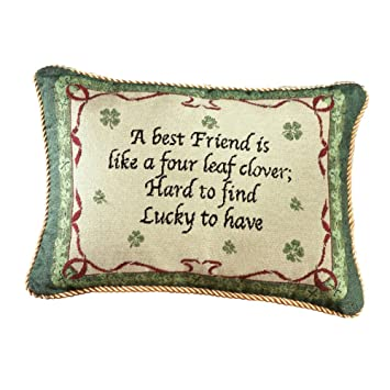 throw pillows for couch target amazon living room lucky best friends decorative accent pillow green