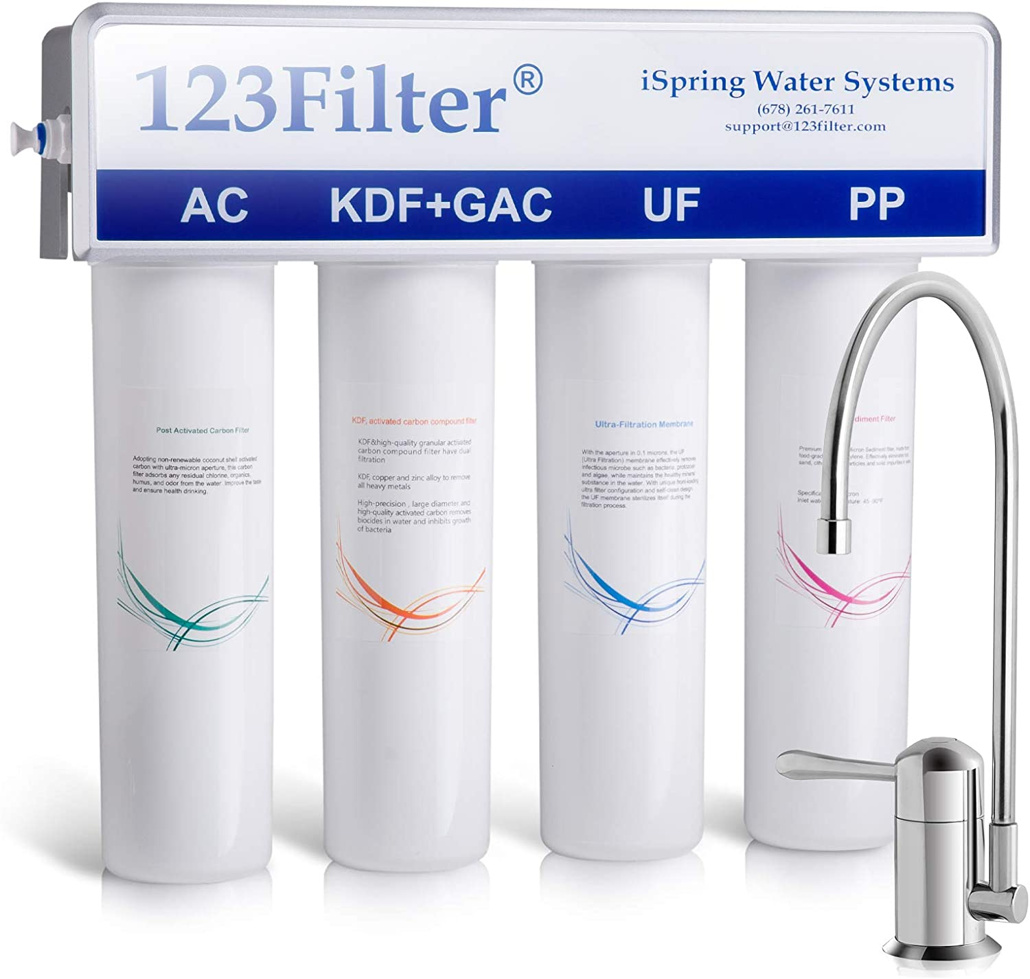 Faucet 5 Stage Ultra-filtration System Drinking Water UF Home Purifier Filter