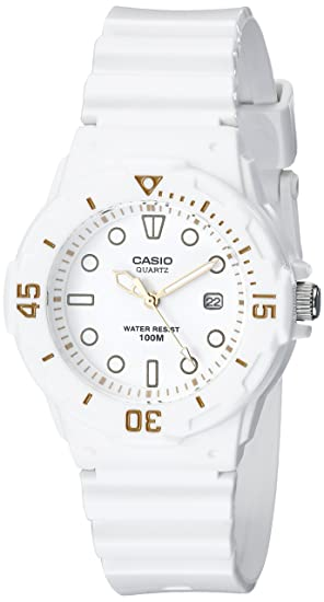 6168255b9c6 Image Unavailable. Image not available for. Color  Casio Women s  LRW200H-7E2VCF Dive Series Diver-Look White Watch