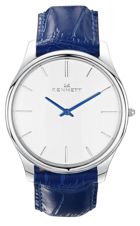 Herren Kennett (Kensington Silber Weiß Royal Blau Armbanduhr ksilwhrybl