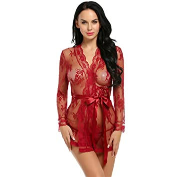 7c4728614db Robe Dress Women Lingerie Sexy Hot Erotic Sex Costumes Kimono Bathrobe  Dressing Gown
