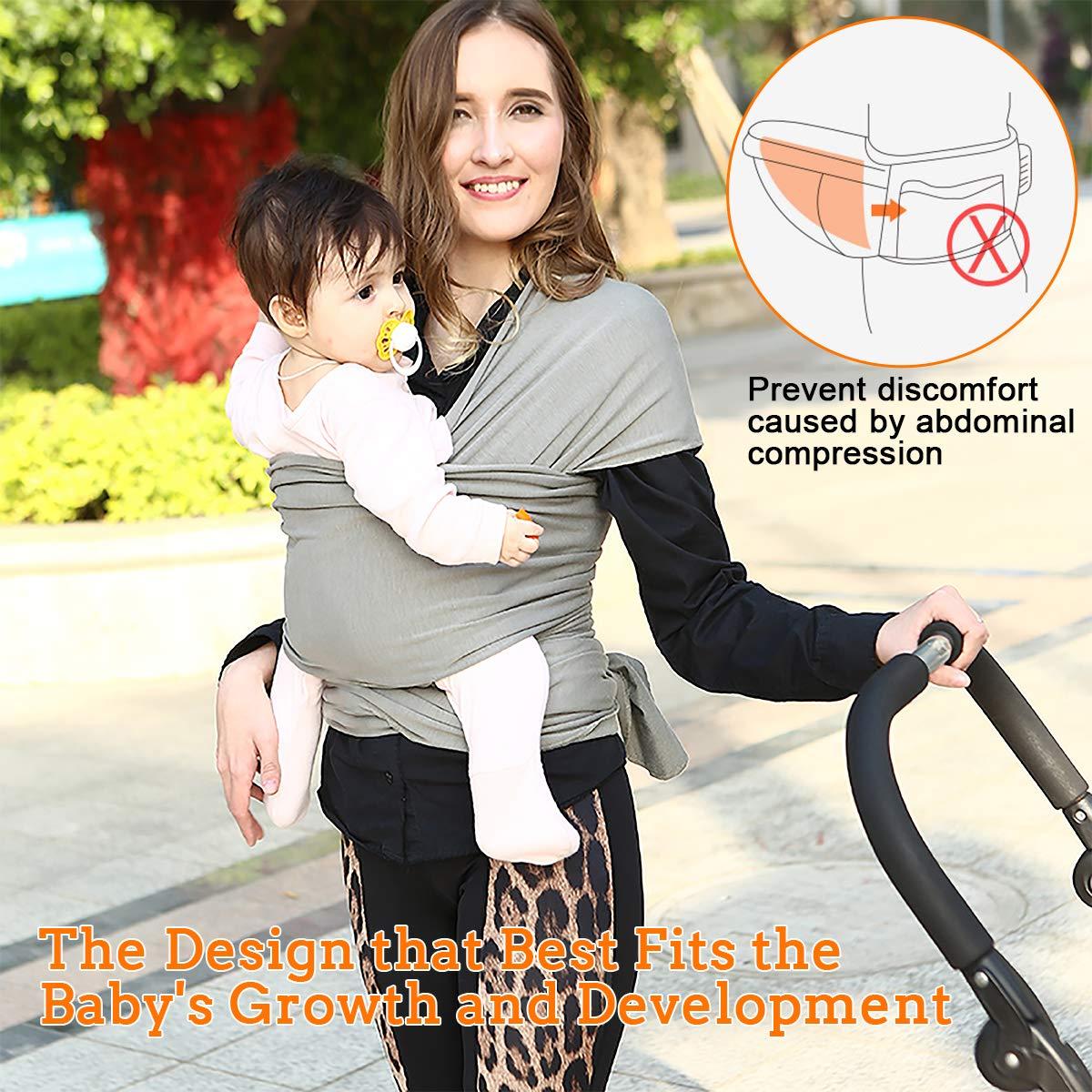 FRUITEAM Babytragetuch Kindertragetuch Babybauchtrage Sling Tragetuch f/ür Baby Neugeborene Innerhalb 16 KG