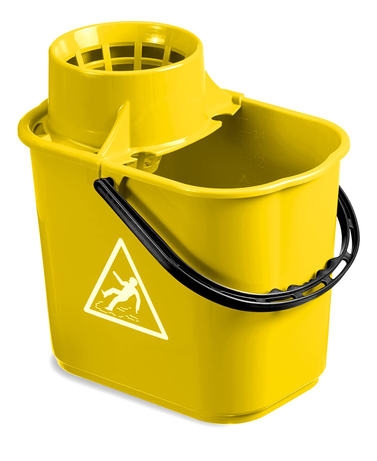 TTS 00005043 Easy Mop Bucket with Wringer, 14 Litre Capacity, Yellow 14Litre Capacity TTS CLEANING S.R.L.