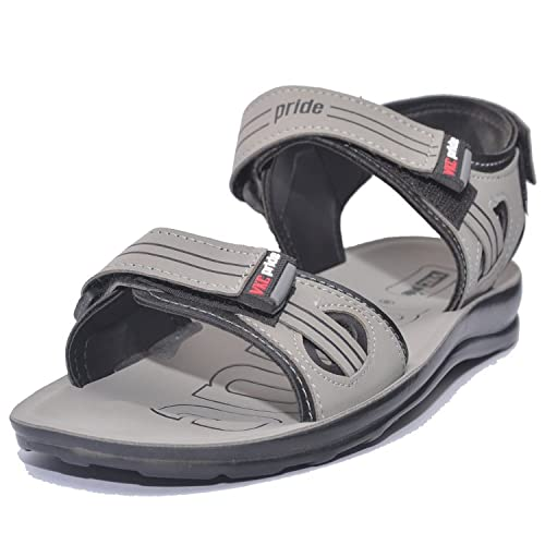 3ddc92418 VKC Pride Men 's Grey Synthetic Fashion Sandals (10 UK): Buy Online at Low  Prices in India - Amazon.in