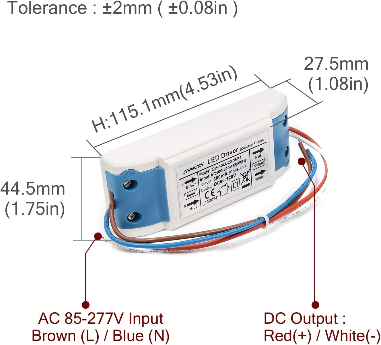 20W AC 220V to 12V  LED Power Supply Driver Electronic Transformer WD