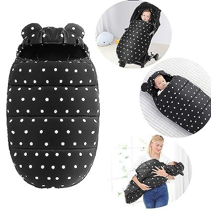 Saco de invierno Universal para Cochecito y Silla de Paseo Bebé Manta Envoltura Saco de Dormir