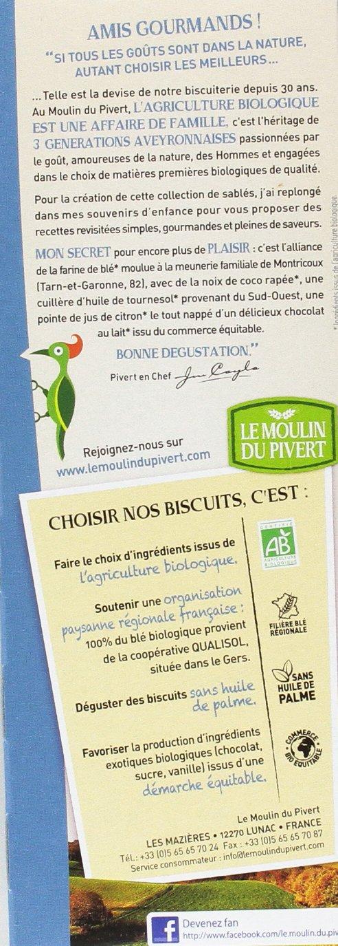 Le Moulin Du Pivert Galletas Placer de Chocolate con Leche y Coco - Paquete de 12 x 130 gr - Total: 1560 gr: Amazon.es: Alimentación y bebidas