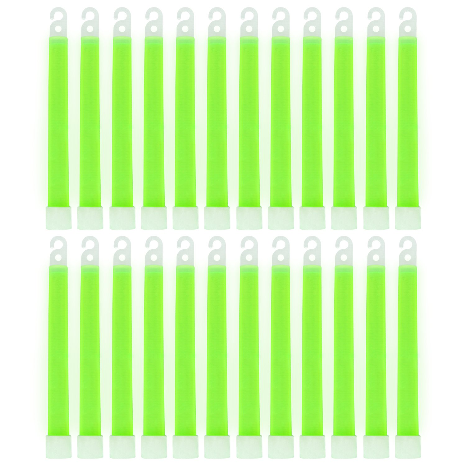MediTac Green Glow Stick - Bright 6'' Snap Sticks With 12 Hour Duration (24 Pack)
