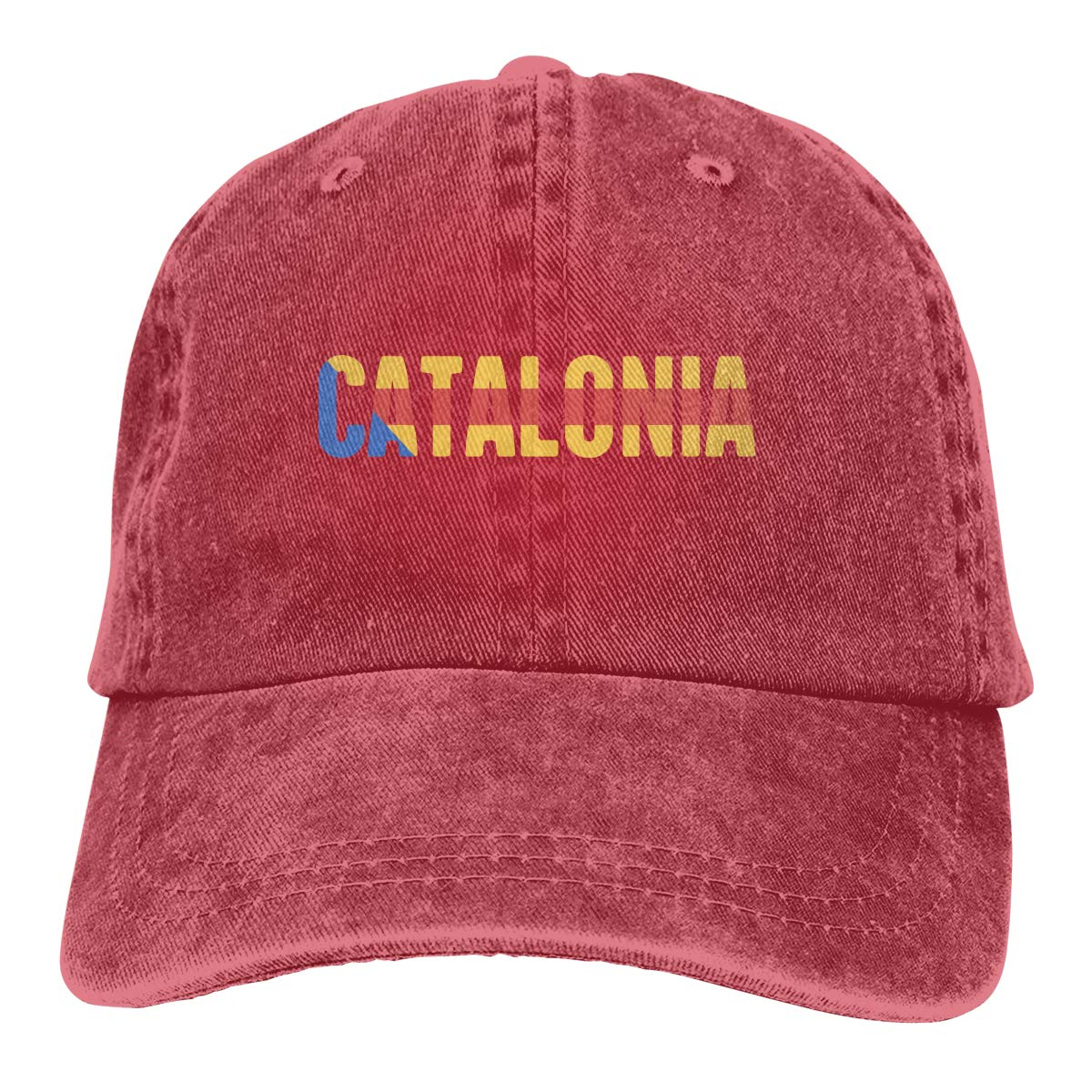 PMGM-C Catalonia Unisex Personalize Cowboy Casquette Adjustable Baseball Cap