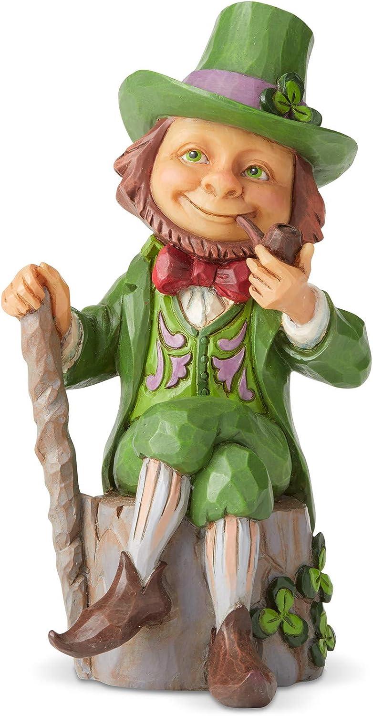 Enesco Jim Shore Heartwood Creek Leprechaun Pint Sized Figurine, 5.5 Inch, Multicolor