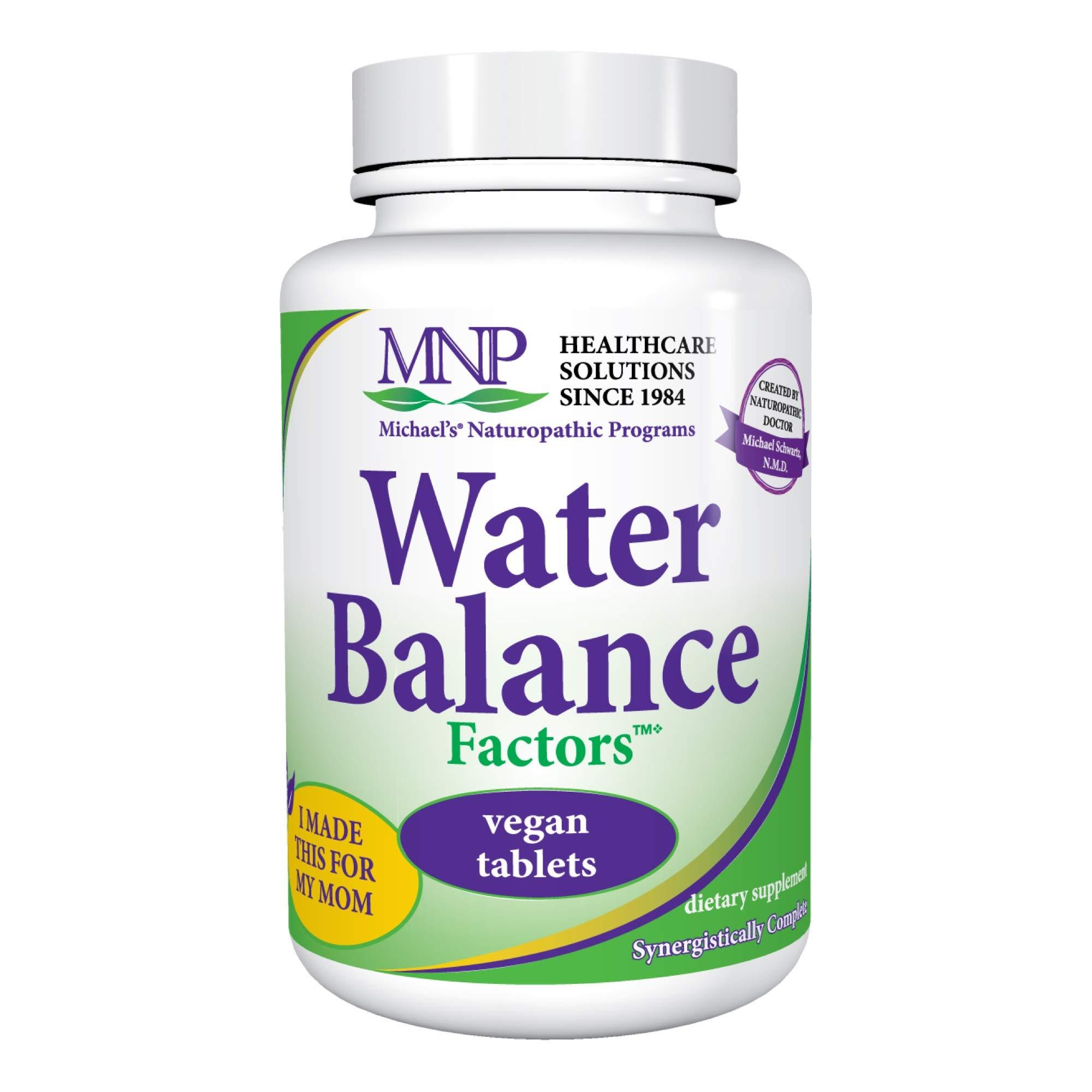 Michael's Naturopathic Programs Water Balance Factors - 90 Vegan Tablets - Fluid Balance Support Supplement, Weight Management Aid - Gluten Free, Kosher - 30 Servings