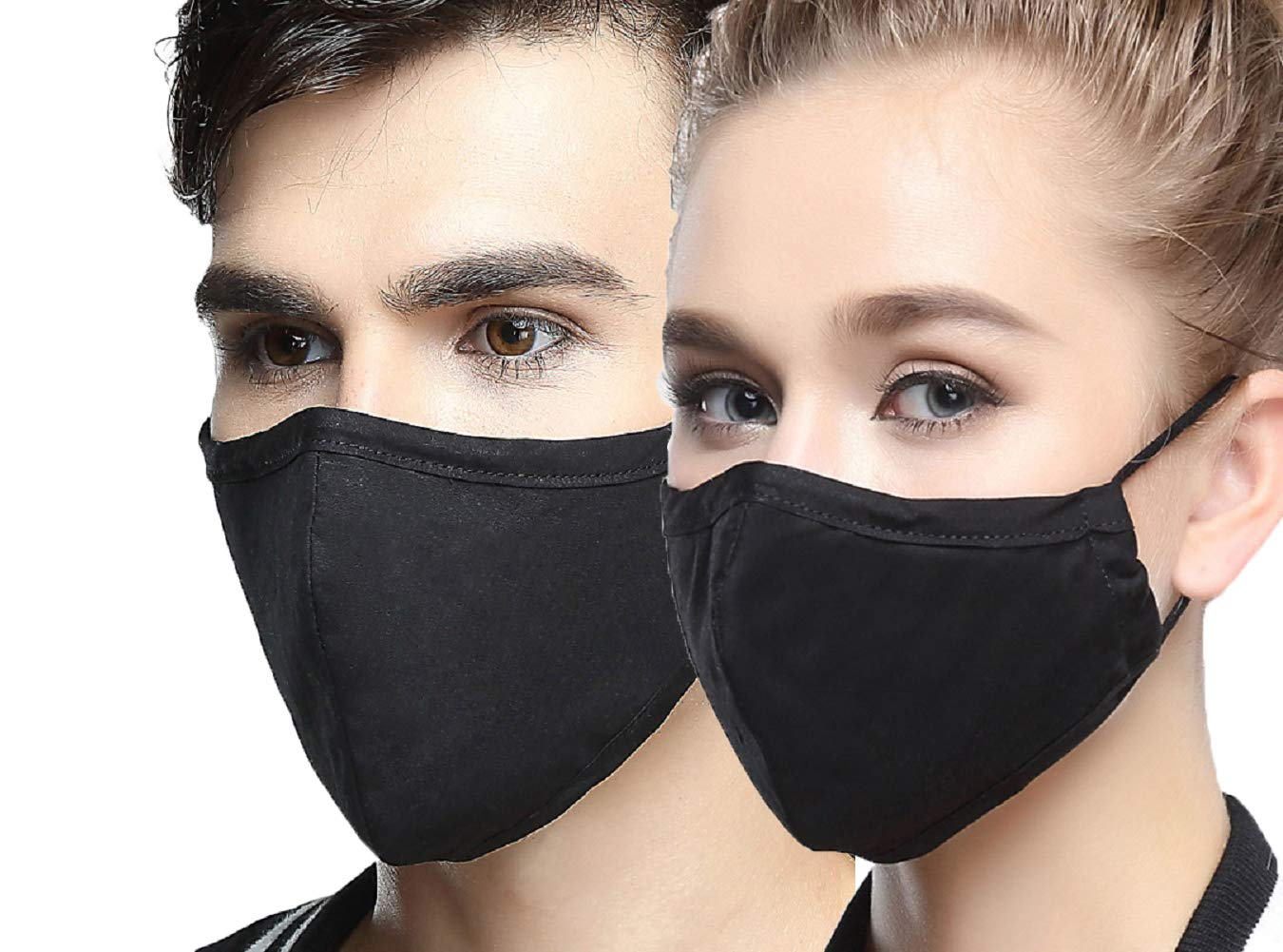 AVIGOR N95 Dust Mask Anti Pollution Face Mask Washable Antibacterial Cotton Mouth Mask (Black)