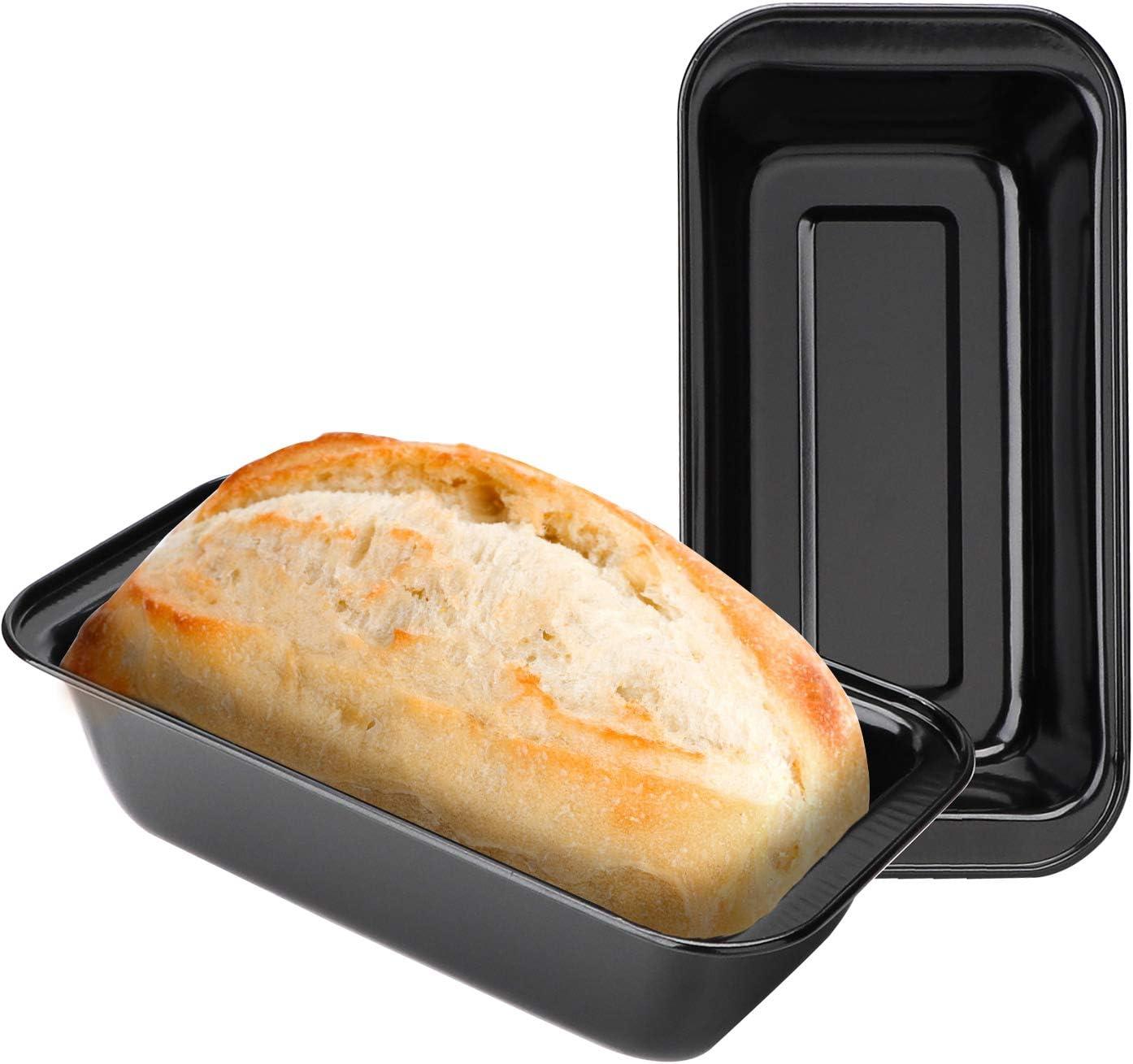 Medium Loaf Pan 8 1//2 x 4 1//2 Set of 3 Nonstick Carbon Steel Baking Bread Pan