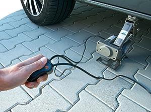 Elektrischer Scherenwagenheber von Lescars