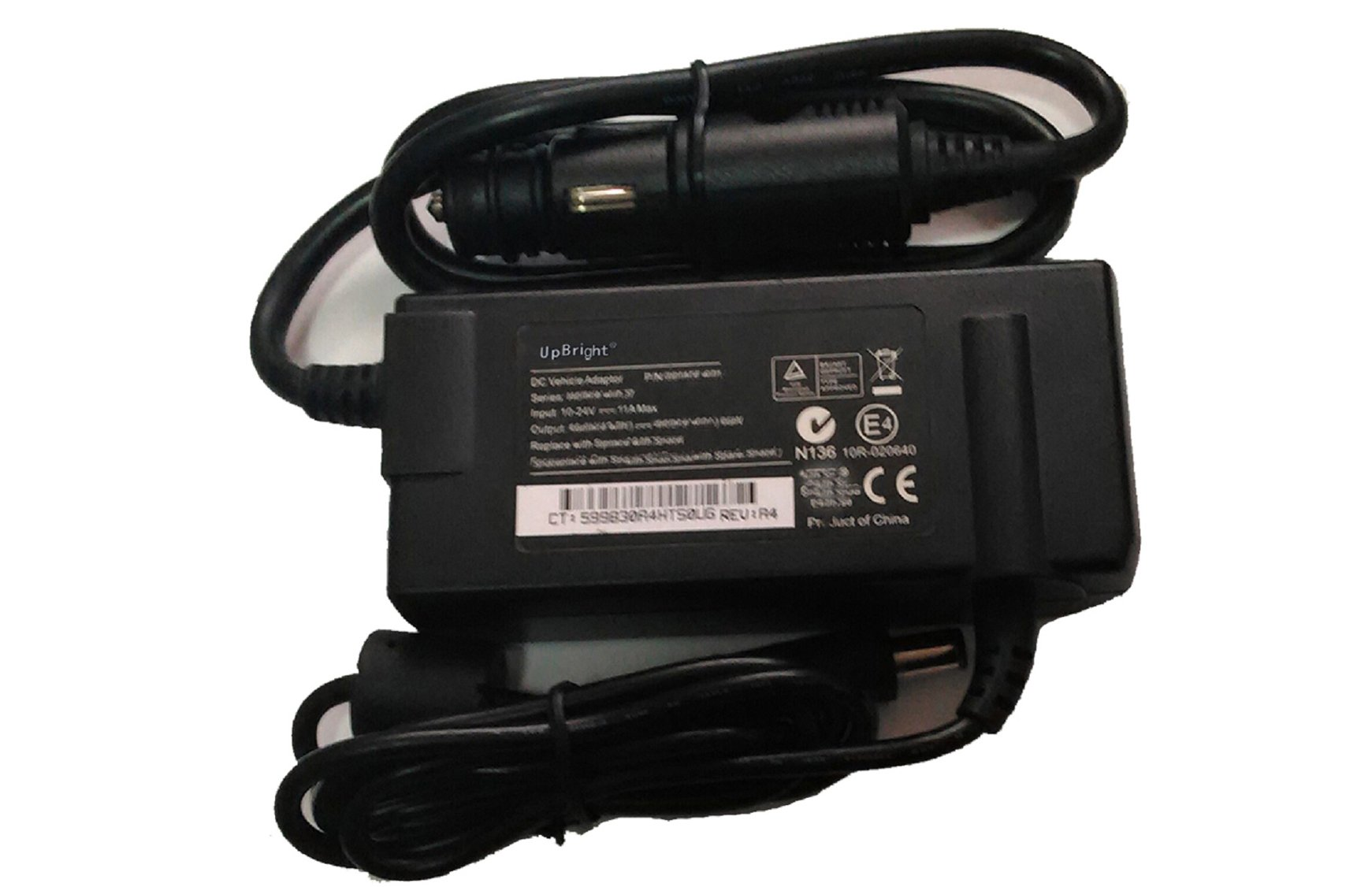 UpBright NEW Car DC Adapter For Getac V110 F110 11.6'' Rugged Tablet PC T800 RX10 RX10H B300 B300X S400 S410 Semi-Rugged Notebook Laptop PC 5400 Power Supply Cord Battery Charger