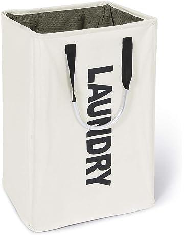 Lifewit Panier à Linge Sale 72L Pliable Imperméable en Tissu avec Une Grande  Capacité (Beige 52e008754fd7