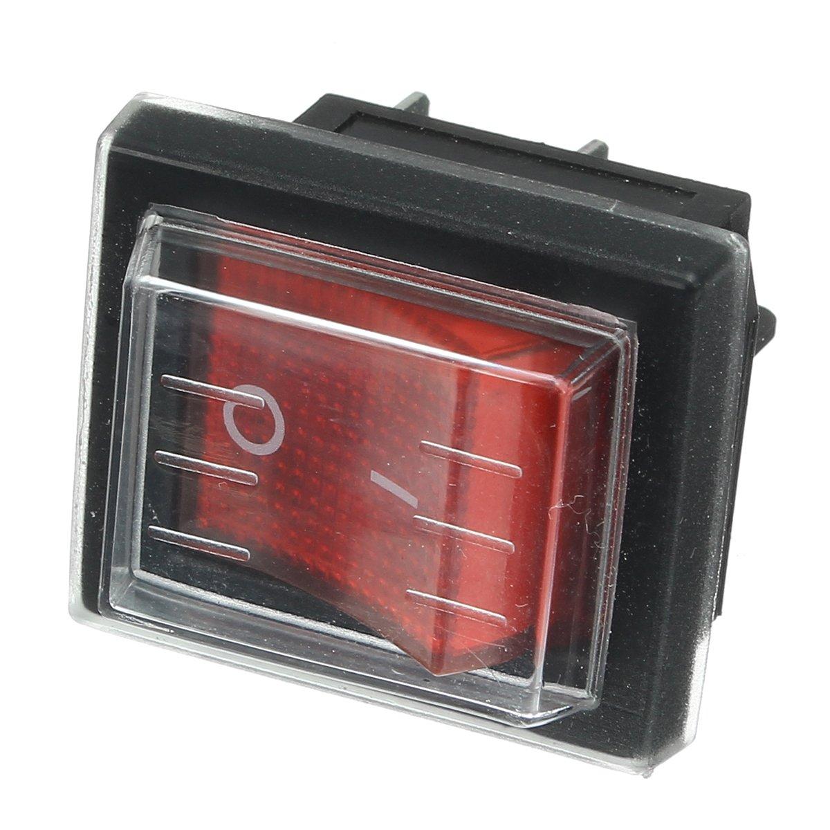 220V16A 20A 125V on//Off Interrupteur /étanche Rechange Rouge commutateur pour Les Machines Aspiration Vide industrielles Ils