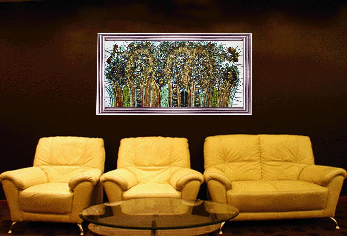 Amazon.com: Batik Art Painting, \'Grass\' by M.Yono (200cm x 90cm ...